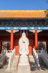 Fotorolgordijn Historisch mon. Confucius Temple, Beijing, China