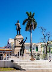 Tuinposter Historisch mon. Jose Marti Statue, Libertad Square, Matanzas, Matanzas Province, Cuba