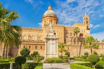 Foto op Plexiglas Historisch mon. Palermo Cathedral, Palermo, Sicily, Italy,