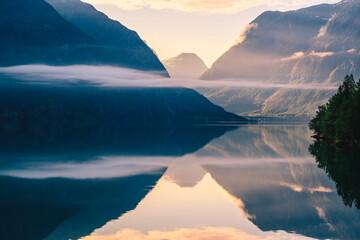 Norwegian fjord, Norway.