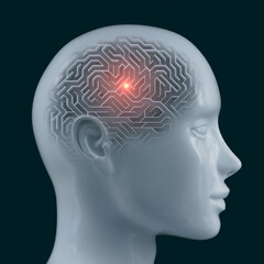 Brain shaped maze with clipping path included. Conceptual image of science and medicine.