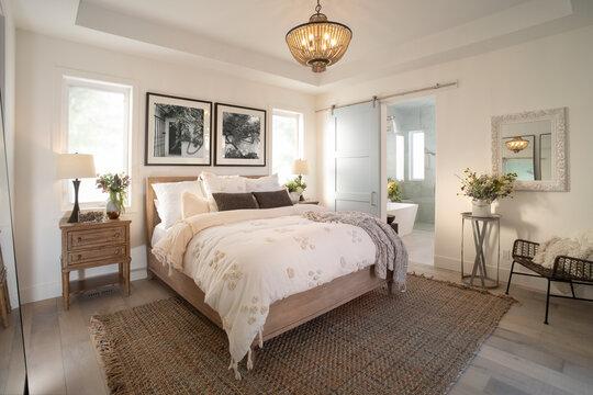 Modern luxury home showcase interior bedroom