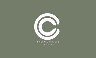 Alphabet letters Initials Monogram logo CC, C and C