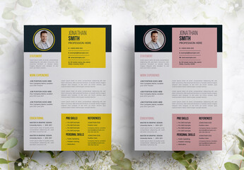 Clean Resume Layout Pack