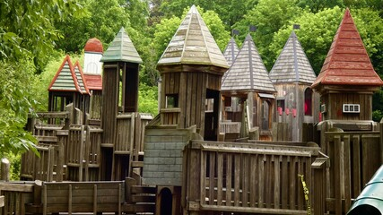 old wooden play area.