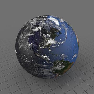 Earth at twilight