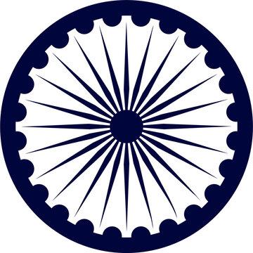 Ashoka Chakra vector.Ashoka Chakra which is also called Dharma chakra.