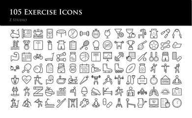 105 Exercise Icons