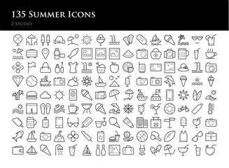 135 Summer Icons