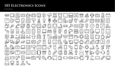 185 Electronics Icons