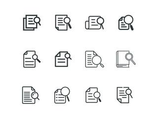 Set of Vector icon case study on white background. EPS 10.