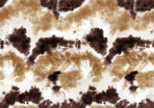 Abstract Watercolor Tie Dye Batik Ombre Seamless Pattern  Wavy Background