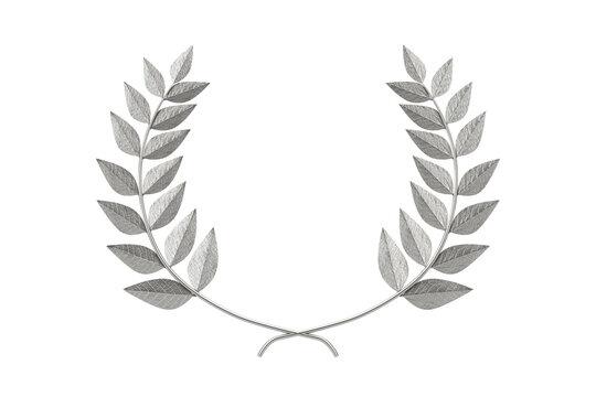 Silver Laurel Wreath Winner Award. 3d Rendering