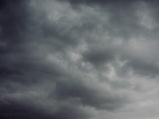 먹구름과 하늘 풍경  Fotobehang