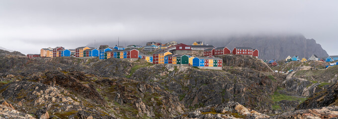 View over Sisimiut in Greenland