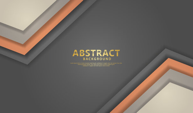 Overlap layers background with orange and gray background vector overlap layer on dark space for background design.