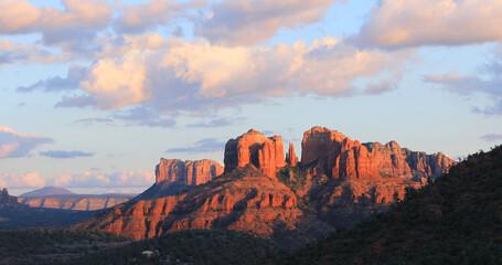 Cathedral Rock in Sedona, Arizona, United States at sunset