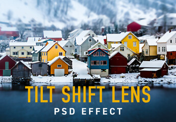 Tilt Shift minimize Lens Effect
