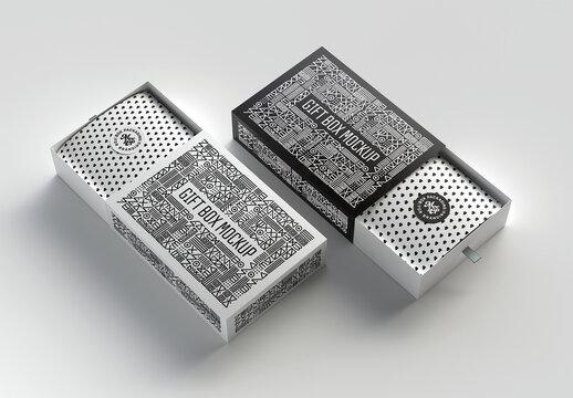 2 Open Cardboard Boxes Packaging Mockup