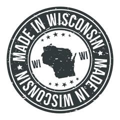 Fototapeta Made in Wisconsin State USA Quality Original Stamp Design Vector Art. obraz