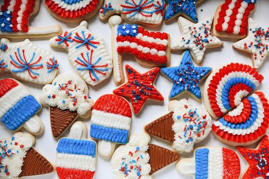 Fourth of July cookies dessert
