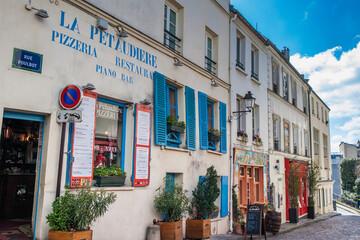 PARIS, FRANCE - MARCH, 2018: The famous Montmartre neighborhood in Paris
