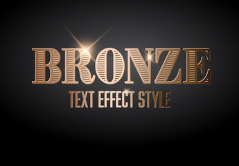 Bronze Metallic Text Effect with Glitter