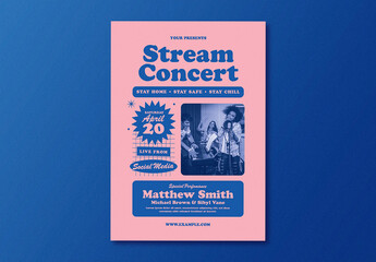 Live Stream Concert Flyer Layout