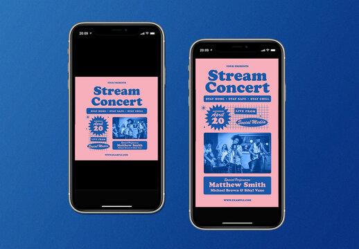 Live Stream Concert Social Media Layout