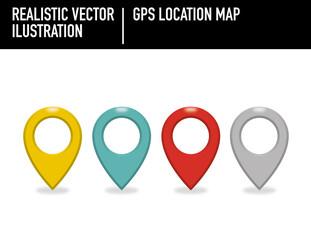 Gps Location Map. Ilustración vectorial. 100% editable