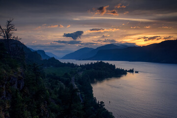 Ruthton Point and the Columbia River Viewed from Hood River, Oregon, Taken in Spring