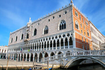 View of Palazzo Ducale from Grand Canal in Venice, Italy