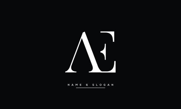 AE ,EA ,A ,E  Abstract  Letters Logo Monogram