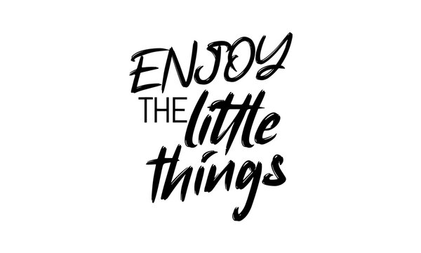 ENJOY THE LITTLE THINGS. Quote about how important little things are for happiness