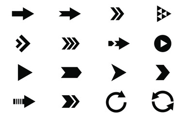 Collection of vector flat arrow icon set for business infographics and computer website