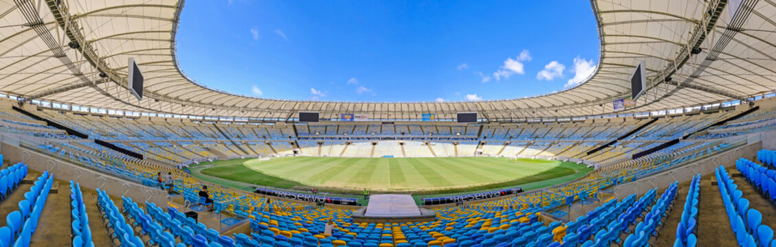 RIO DE JANEIRO, RIO, BRAZIL, SEPT 05, 2018: View of the Maracana stadium, Rio de Janeiro, Brazil