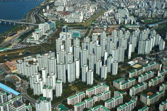 It is scenery of Seoul, capital city of Korea.