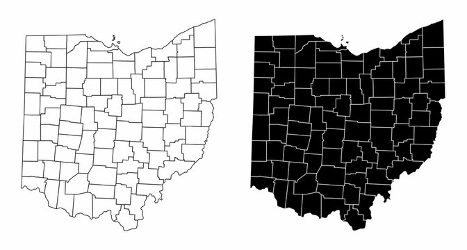 Ohio county maps