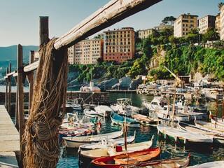Il porticciolo di Camogli (Genova)