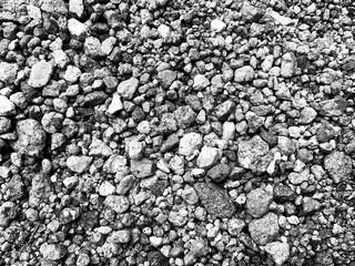 Textura en escala de grises de rocas pequeñas