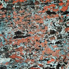Textura de pared antigua vieja y rústica a color