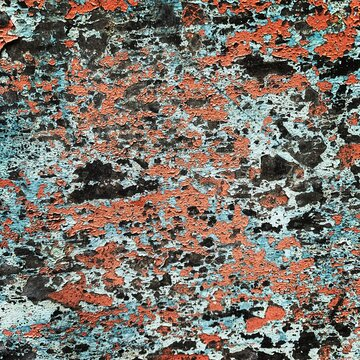 Textura de pared antigua vieja y rústica a color