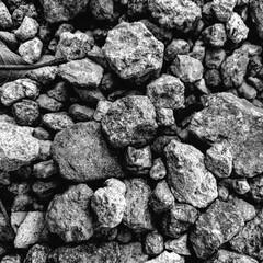 Textura de rocas medianas blanco y negro