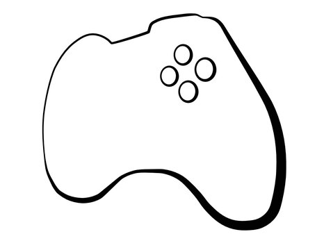Game Controller vector icon based on a hybrid of xbox one and 360
