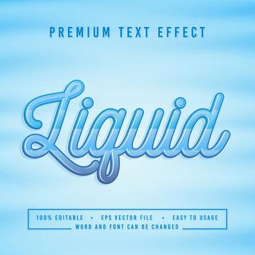 decorative liquid Font and Alphabet vector
