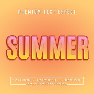 decorative summer Font and Alphabet vector
