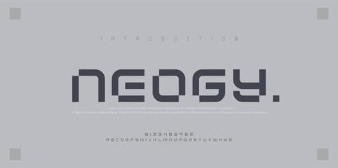 Abstract modern urban alphabet fonts. Typography sport, simple, technology, fashion, digital, future creative logo font. vector illustration