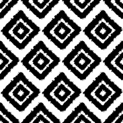 seamless pattern background,with paint strokes and squares, black and white