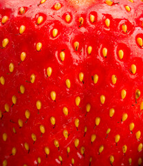 background of strawberry texture closeup