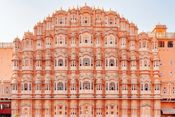 Amazing view of the Hawa Mahal (Palace of Winds), Jaipur